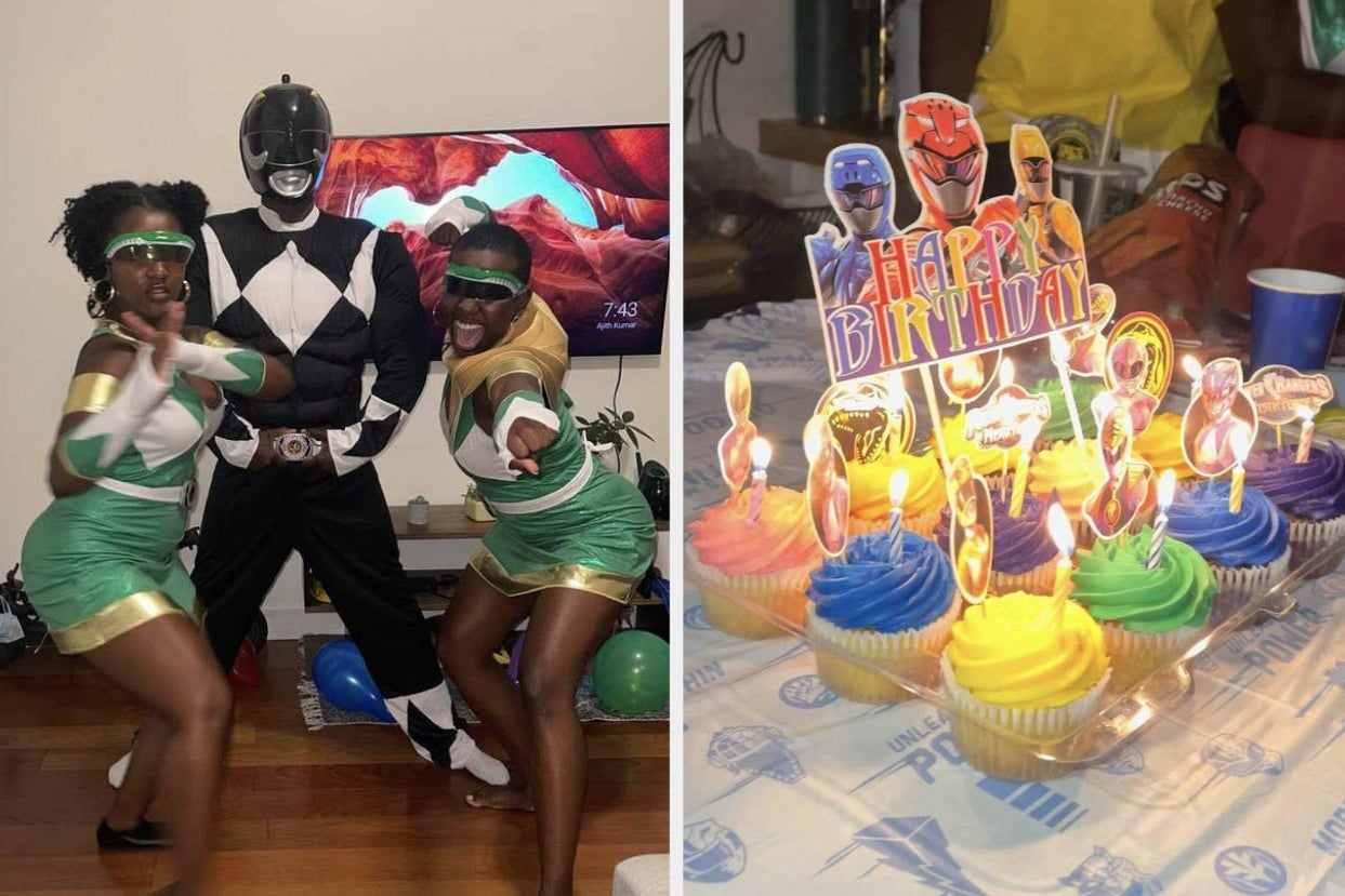 """These Sisters Promised Their Brother A """"Power Rangers"""" Themed Birthday And It Finally Happened 16..."""