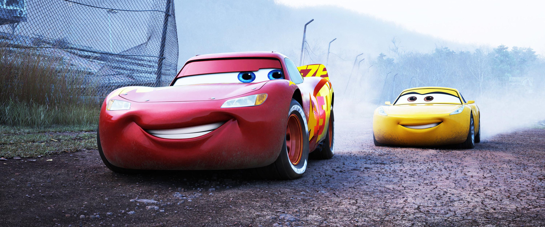 Lightning McQueen and Cruz Ramirez racing