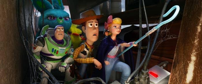 Buzz Lightyear, Woody and Bo Peep