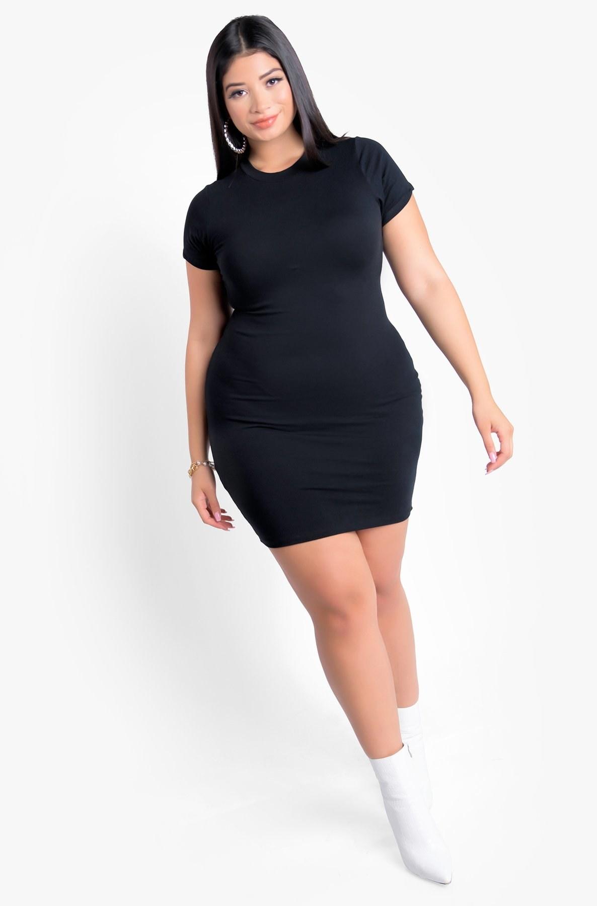 short sleeve mini dress