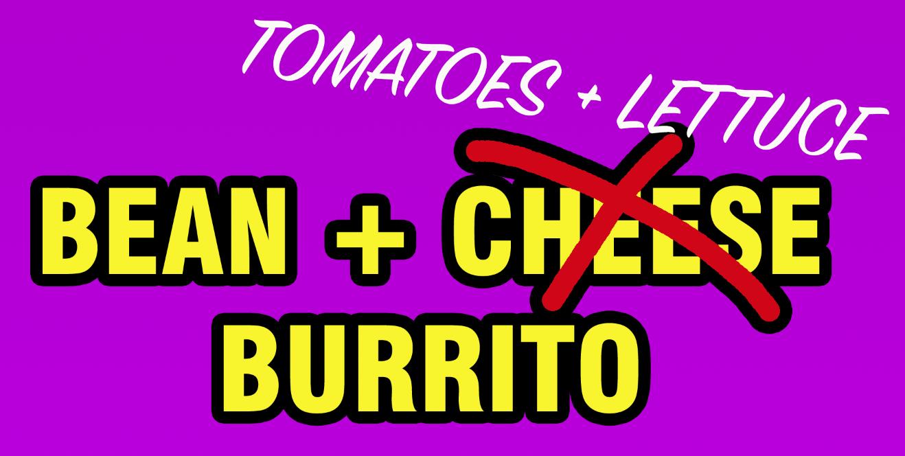 tomato and lettuce burrito
