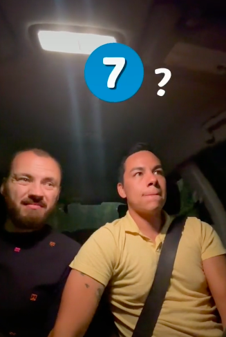 they are laughing in the car