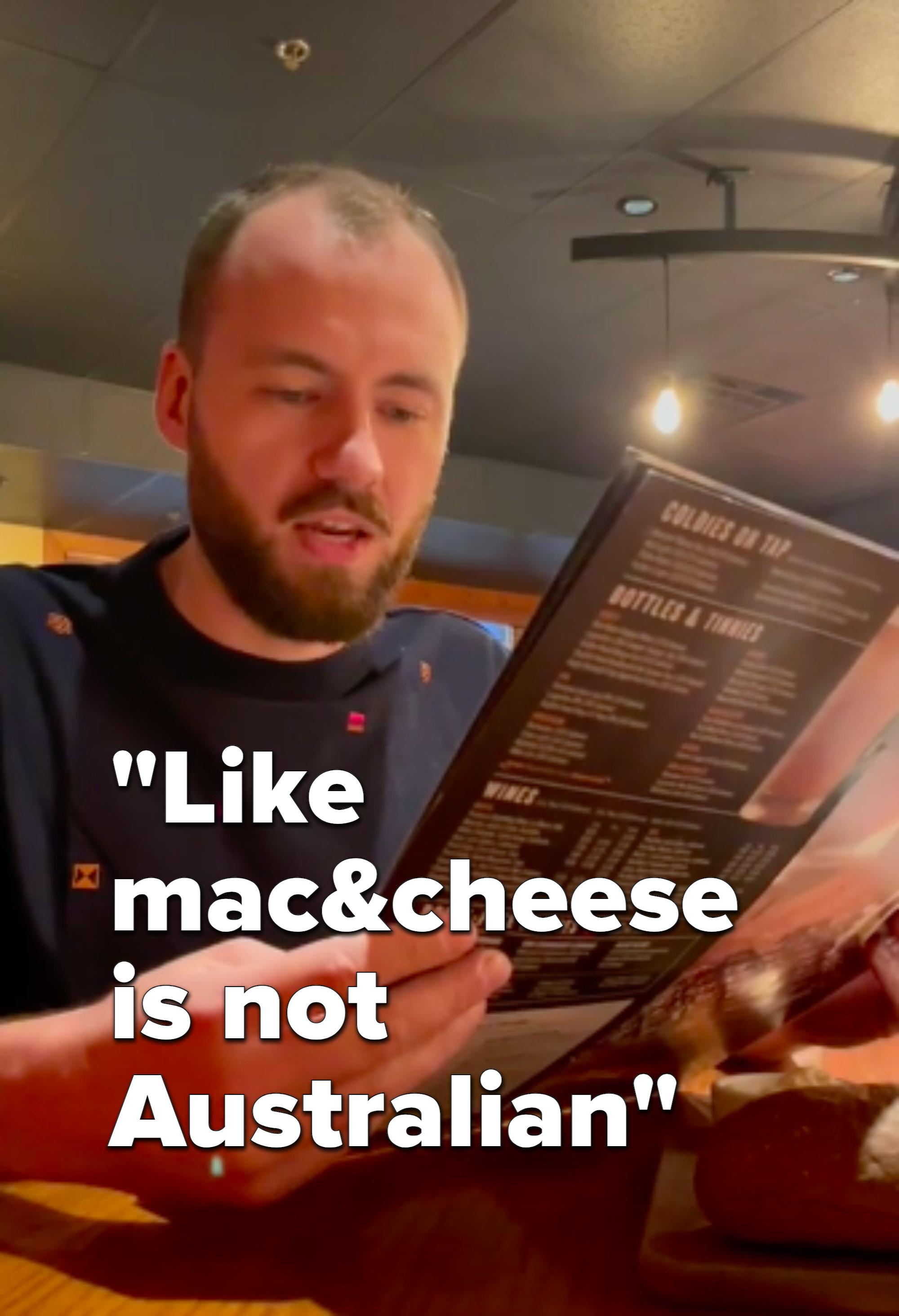 mac & cheese is not austarlian