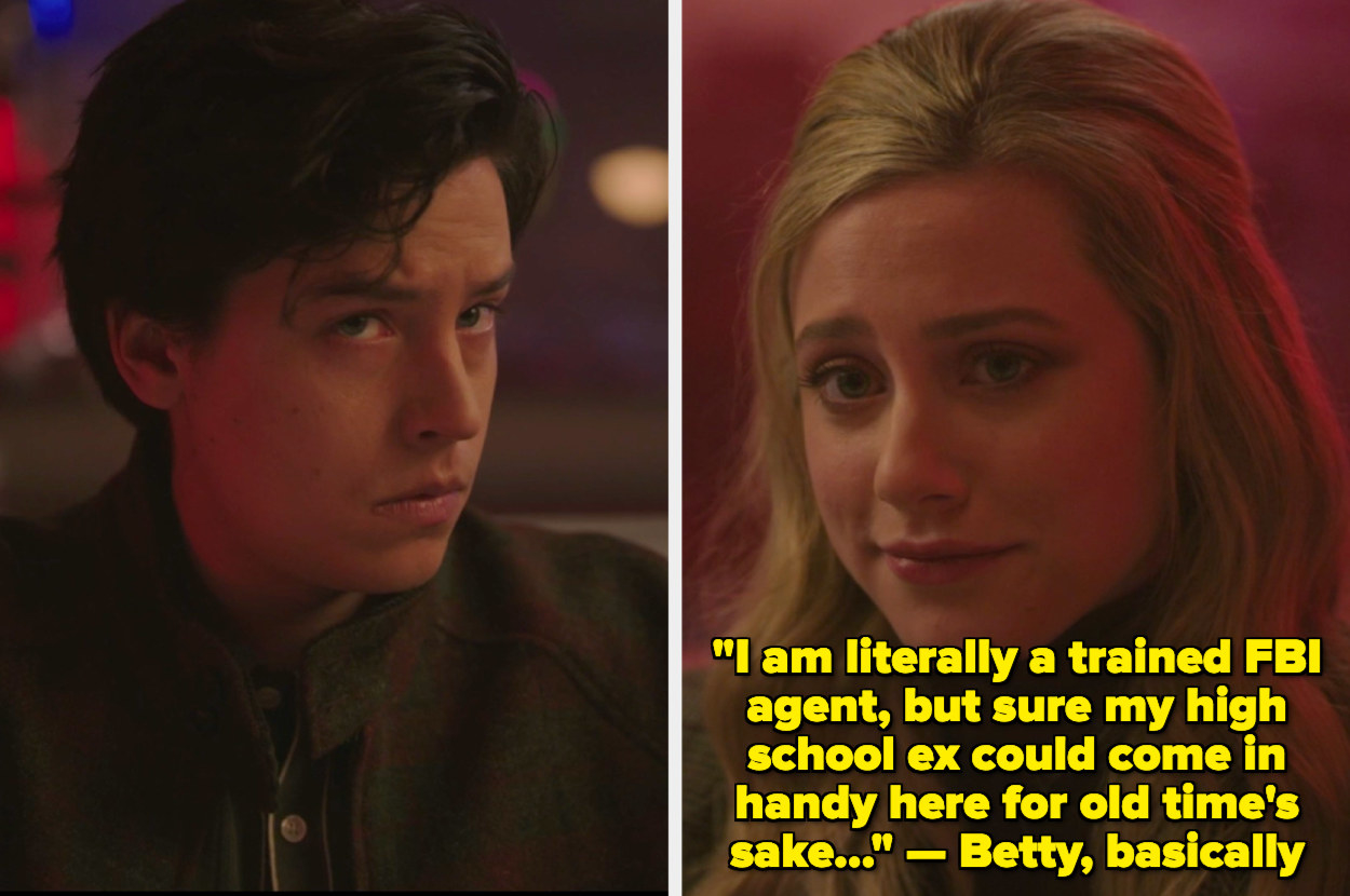 Betty and Jughead teaming up to work on the case together