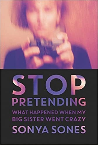 Book cover shows blurry self portrait of a woman holding a camera at top with title text in bold letters and author name below