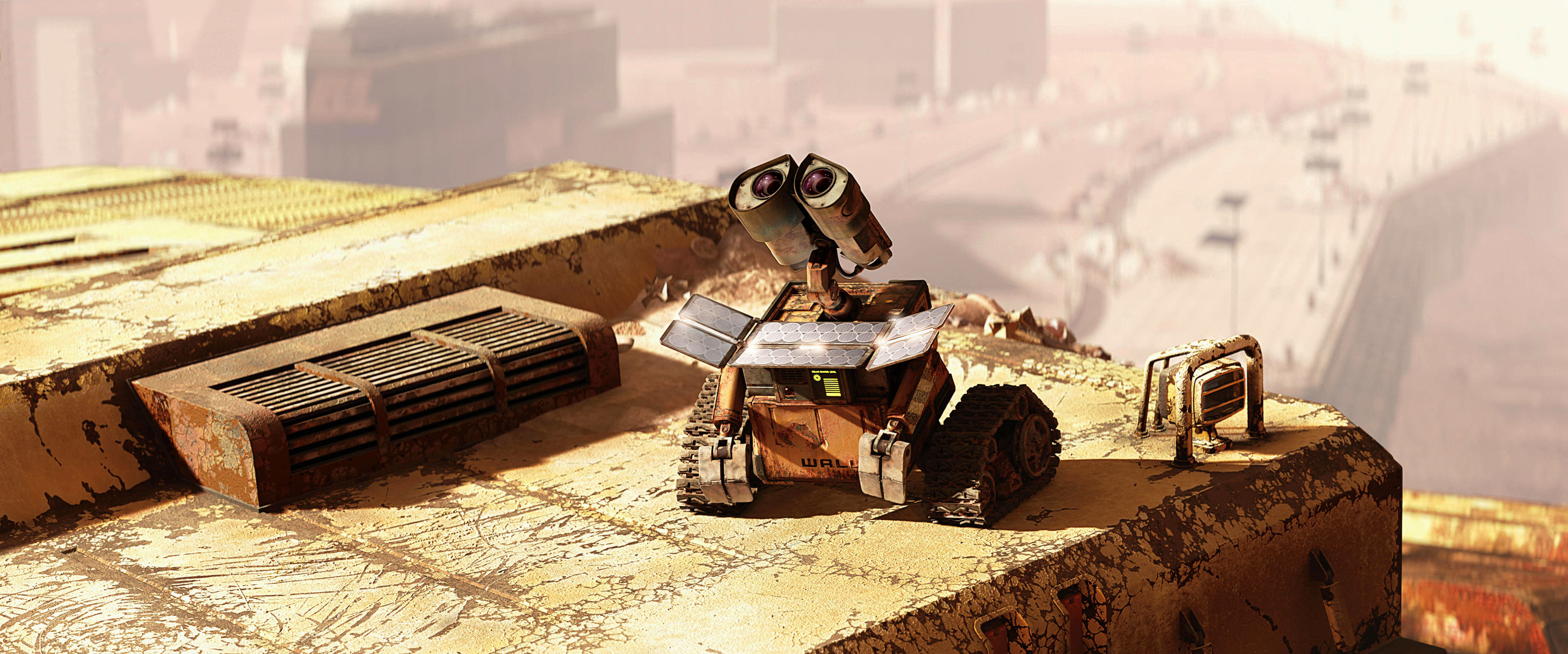 Wall-E looking up into the sky