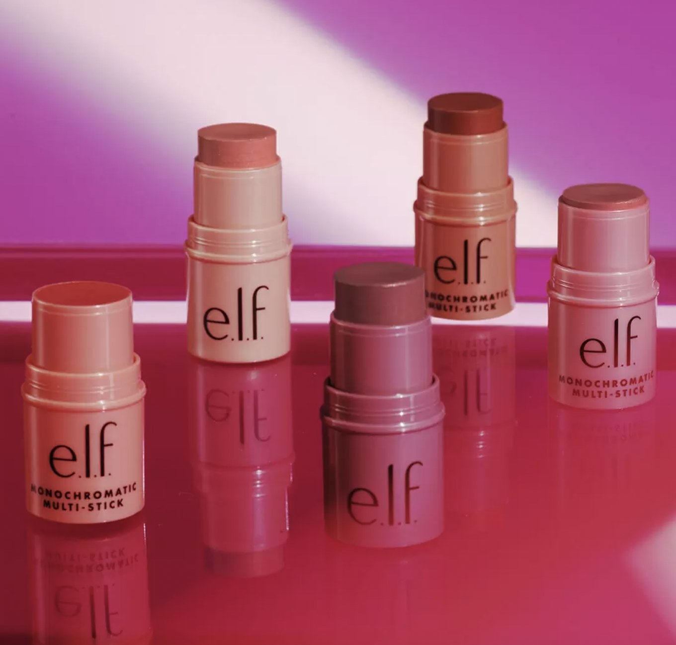 A set of multi stick makeup products
