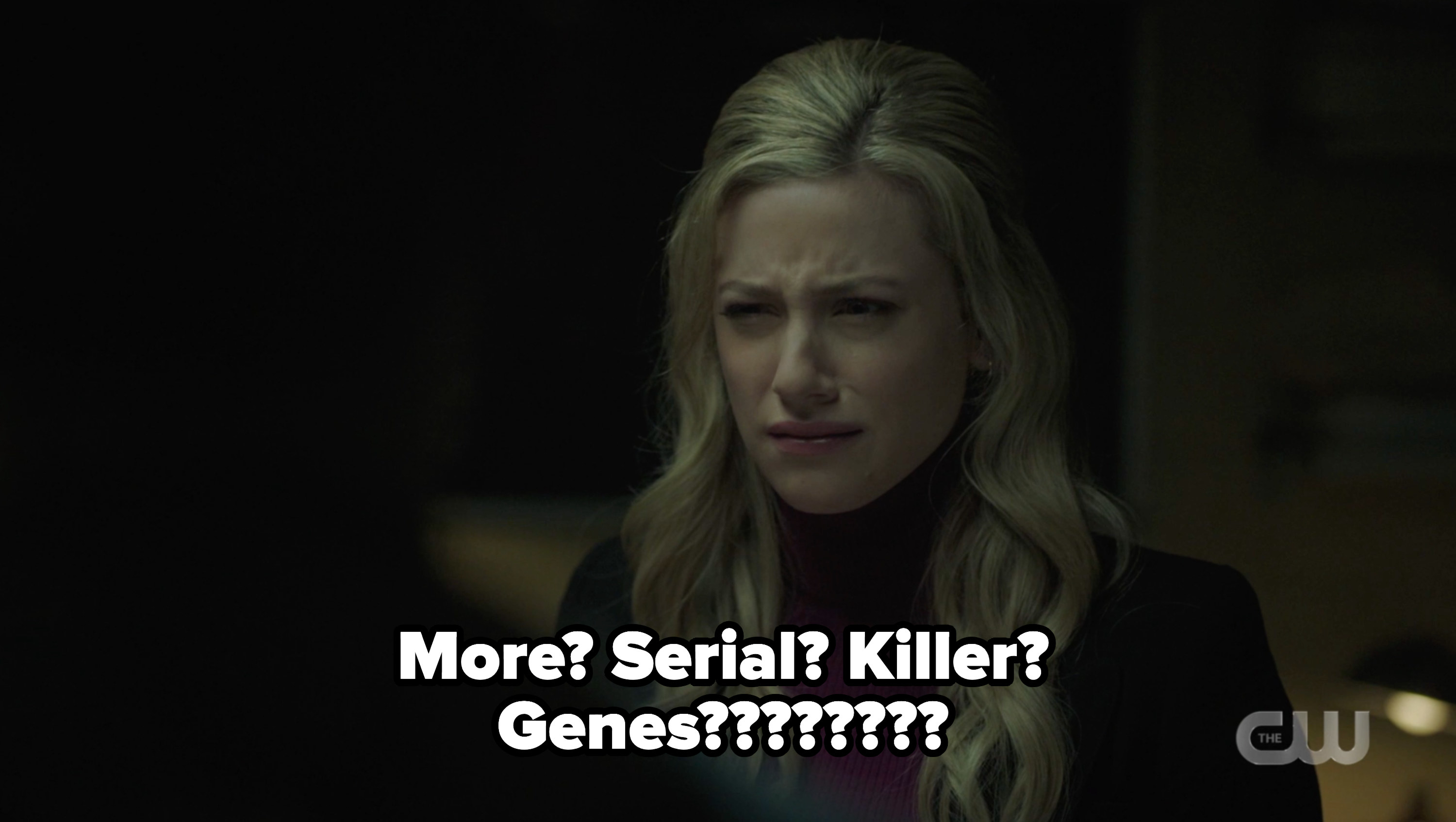 """Betty with the question """"more serial killer genes???"""""""
