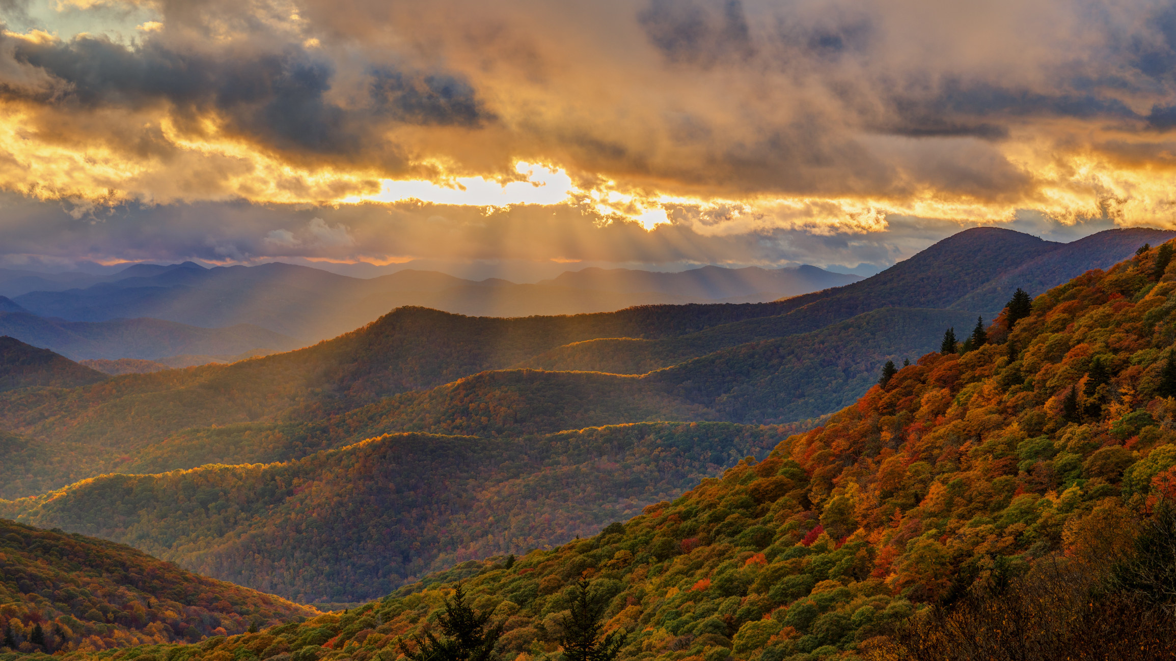 The Blue Ridge Mountains during fall