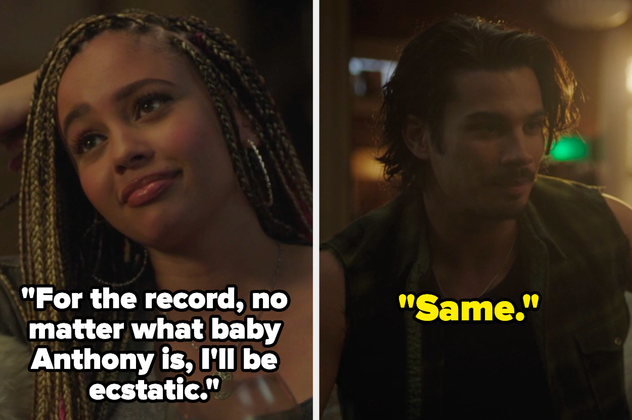 Toni says for the record no matter what baby anthony is i'll be ecstatic and fangs says same