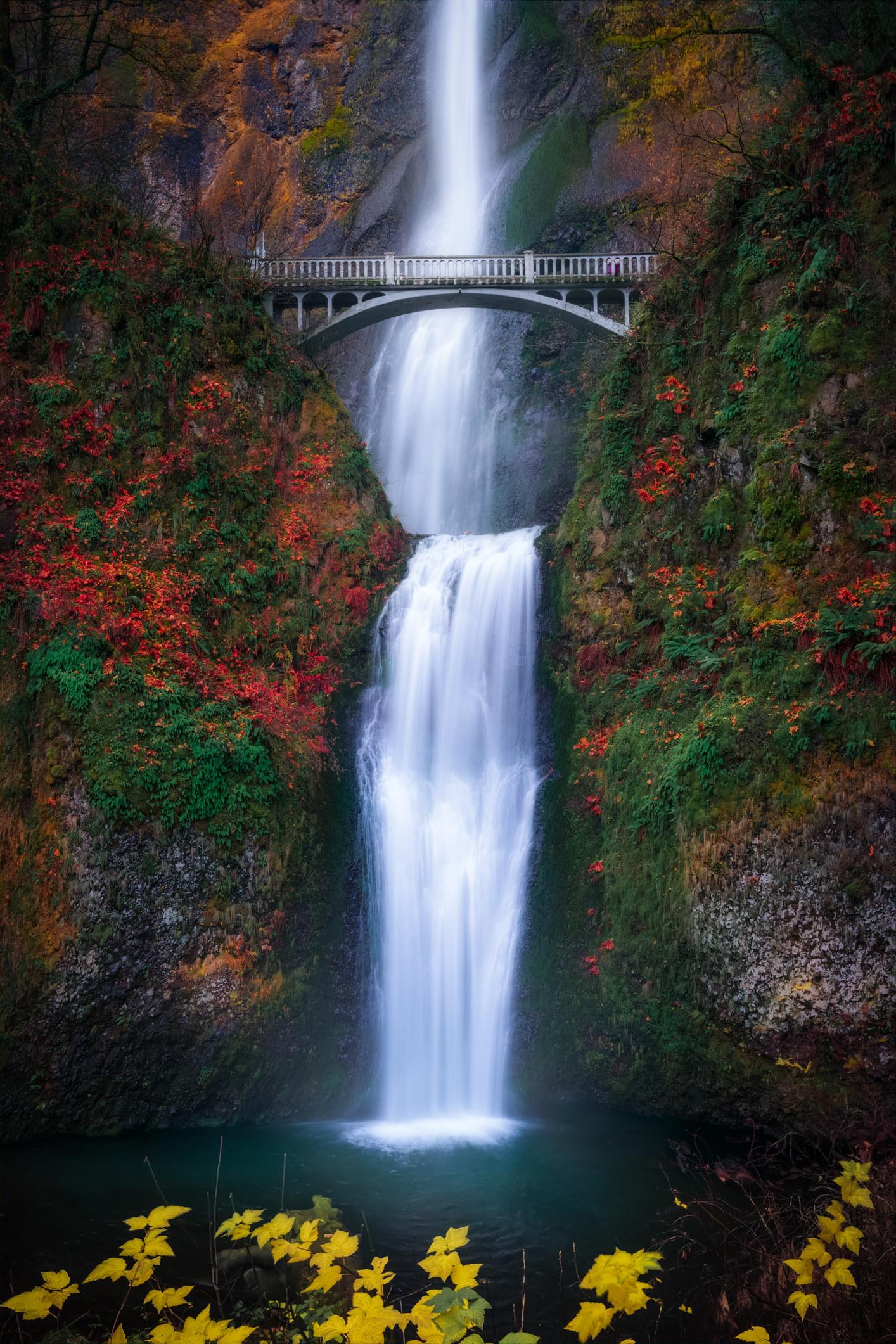 Multnomah Falls at Columbia River Gorge