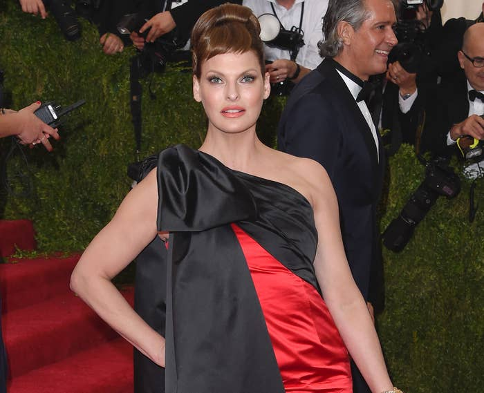 Linda attends the Met Gala before her surgery