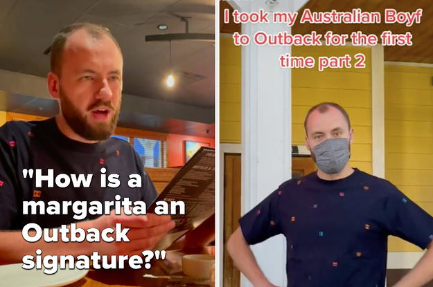 This American Man Hilariously Took His Australian Boyfriend To Outback Steakhouse To See How Authentic It Was, And He Was Very, Very Confused
