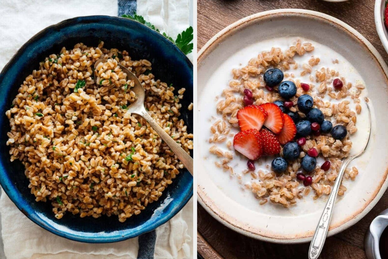 25+ Nutritious Recipes That All Start With High-Protein Grains — Like Oats, Quinoa, And Farro