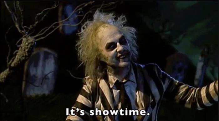 Beetlejuice says it's showtime