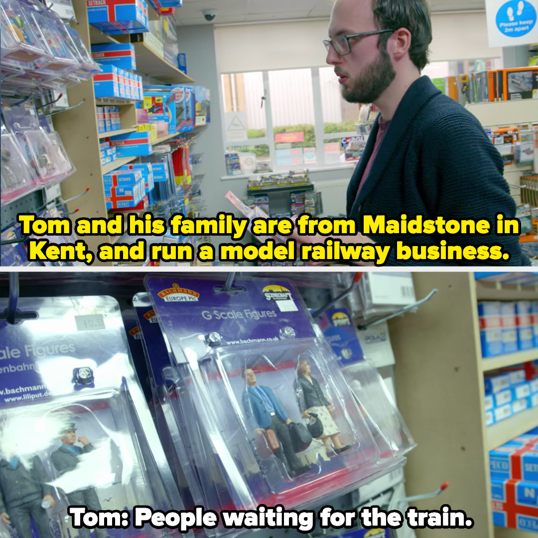 Tom in his family's model railway business