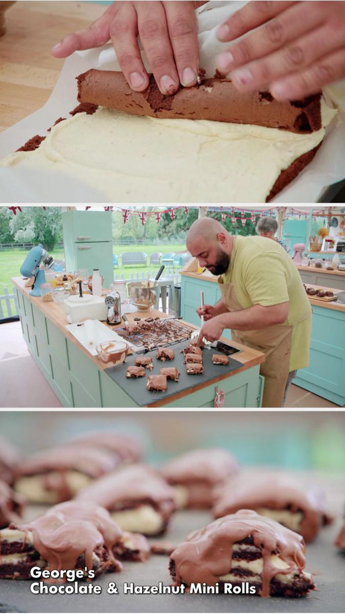 George's melting chocolate and hazelnut rolls