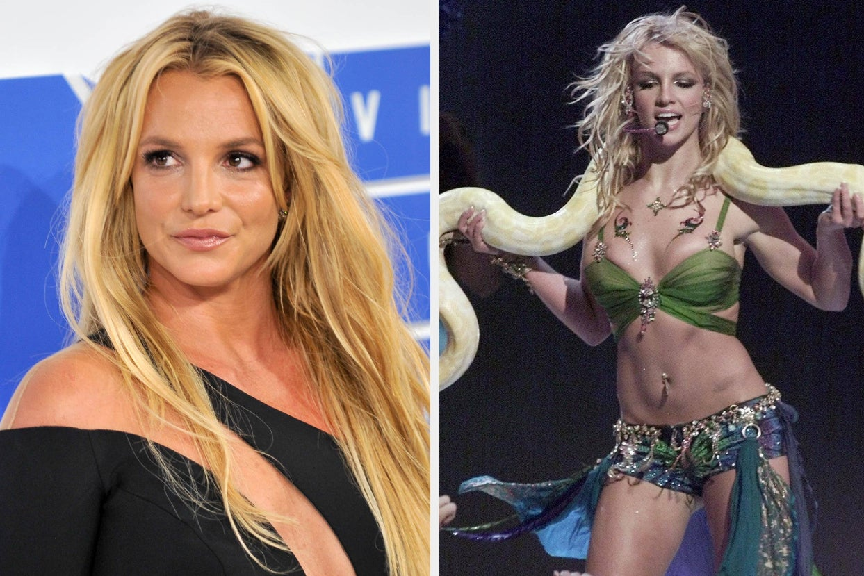 """Britney Spears Told The Story Of Justin Timberlake Giving Her A """"5 Minute Pep Talk"""" Before Her 2001 MTV VMAs Performance After He Publicly Apologized For His Past Treatment Of Her"""