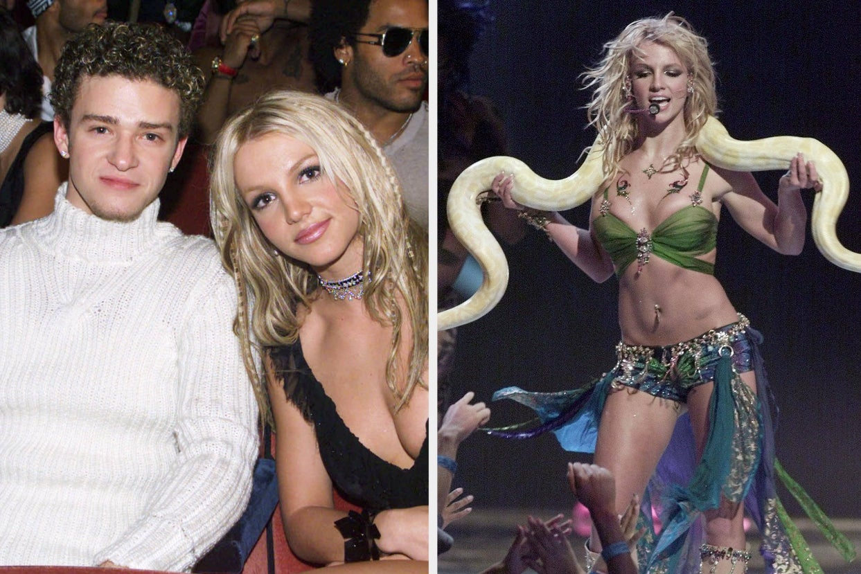"""Britney Spears Told The Story Of Justin Timberlake Giving Her A """"5 Minute Pep Talk"""" Before Her 2001 MTV VMAs Performance After He Finally Apologized For His Past Treatment Of Her"""