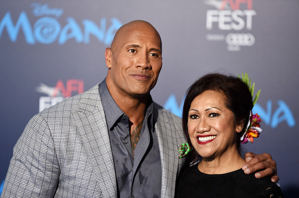 The Rock and his mom
