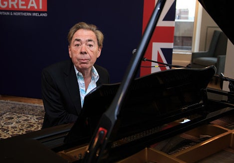 Andrew LloydWebber at a piano