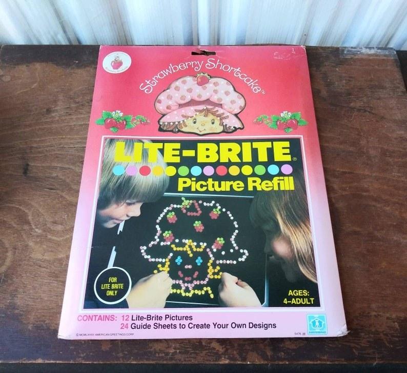 A Strawberry Shortcake Lite-Brite refill