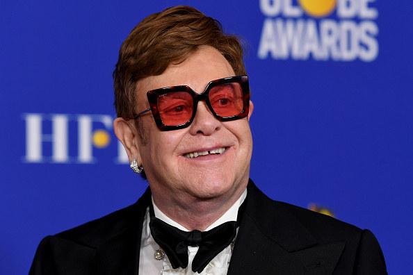 Sir Elton John smiling