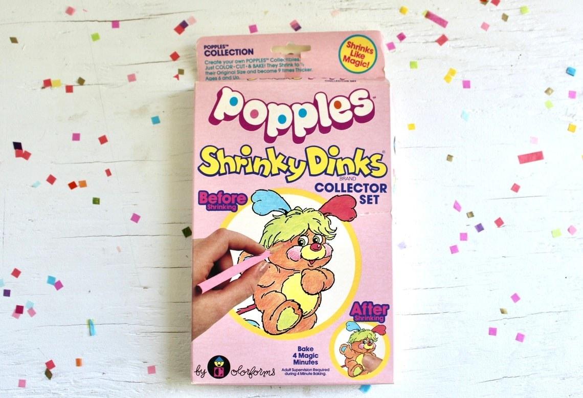 Box of Popples Shrinky Dinks