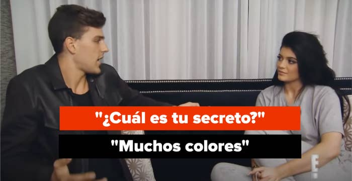 """""""What's your secret?"""" Kylie says: """"A lot of colors"""""""
