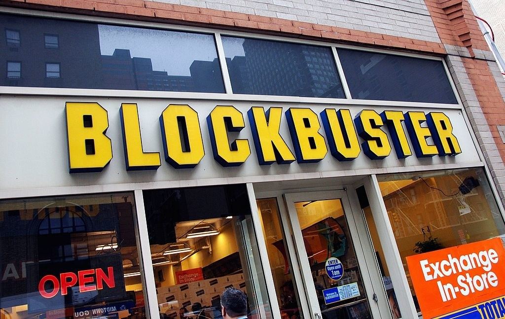 A Blockbuster storefront