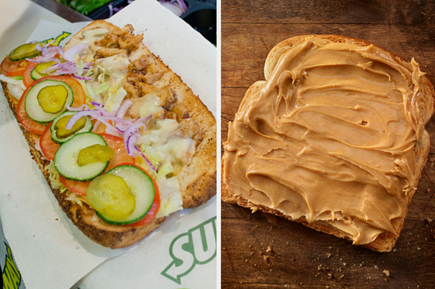 I Know You're Wondering If You're More Like Peanut Butter Or Jelly, So Make A Subway Sandwich And Find Out