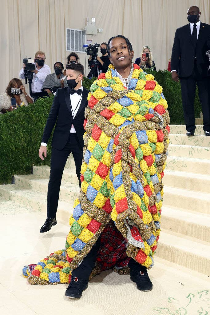 A$AP Rocky wrapped in the quilt