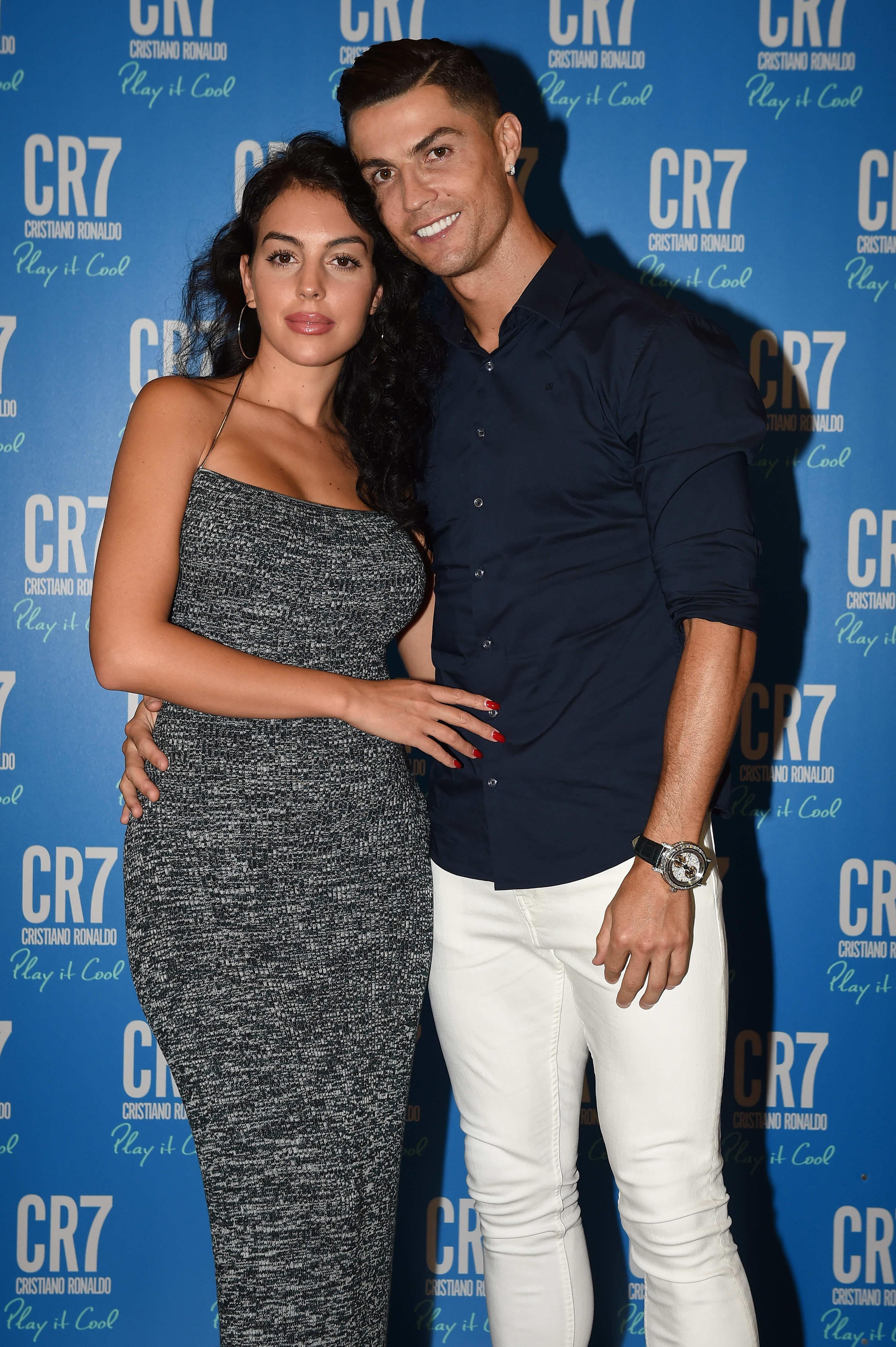 Georgina Rodriguez and Cristiano Ronaldo on the red carpet