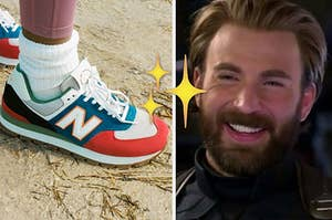 shoes and captain america