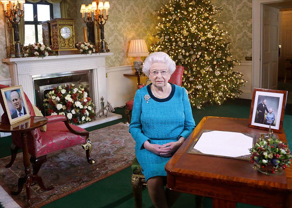Queen Elizabeth during her Christmas address in 2016