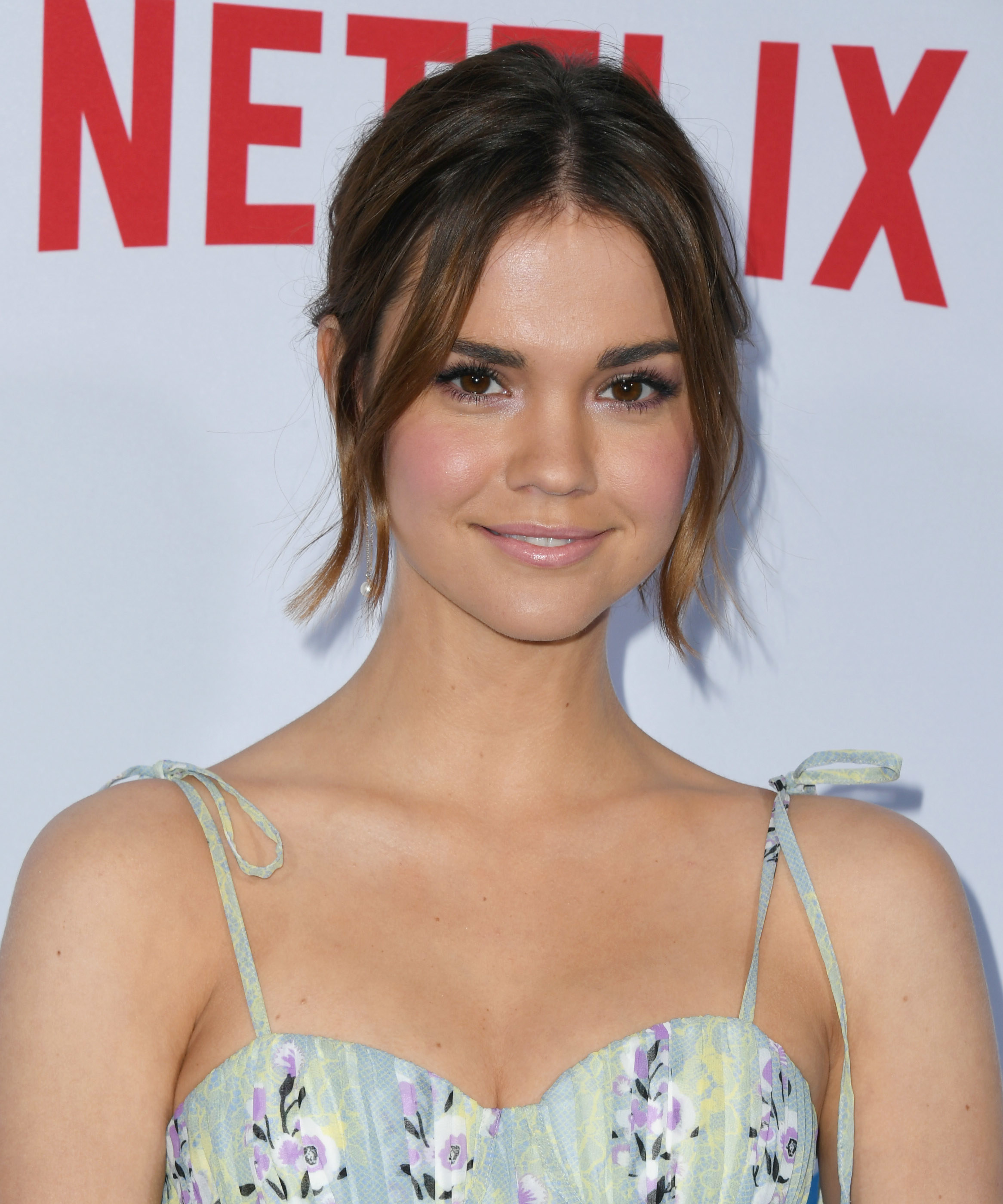 Maia Mitchell in stunning strappy dress