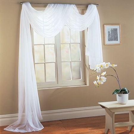 White curtain scarf