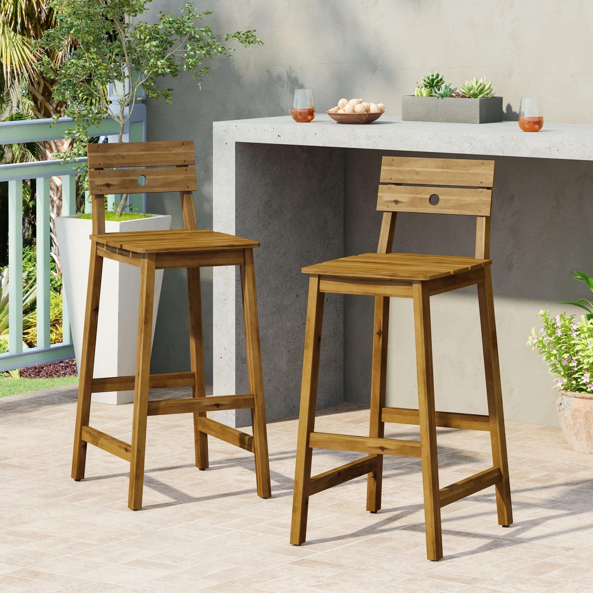 A pair of bar stools