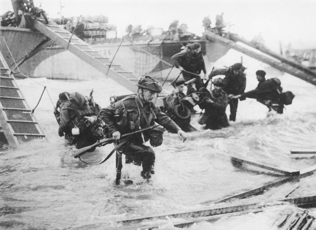 Troops land on D-Day