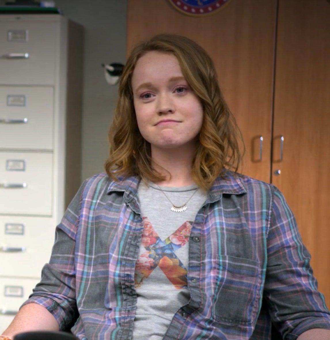 Liv Hewson makes a face while in character on the Santa Clarita diet