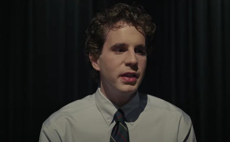 Ben Platt looking sad in the Dear Evan Hansen movie