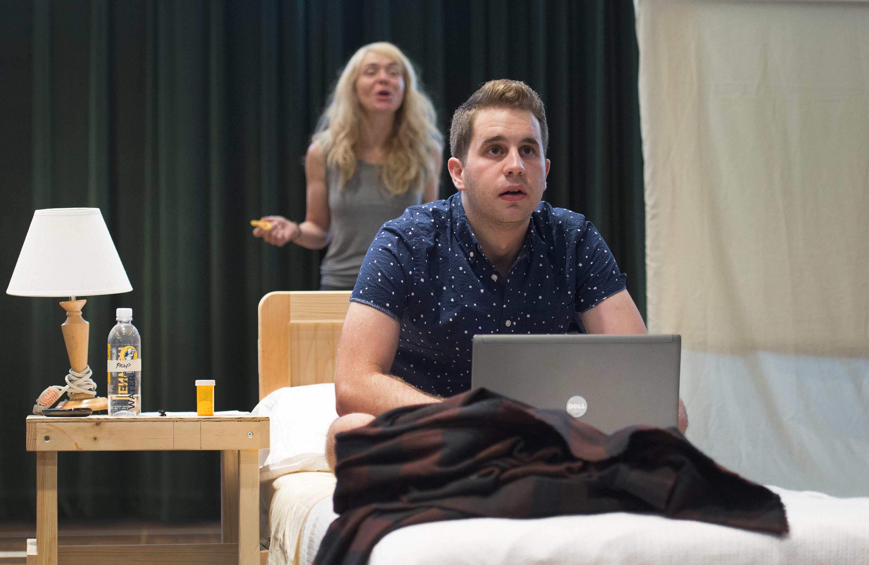 Ben Platt in a stage performance of Dear Evan Hansen
