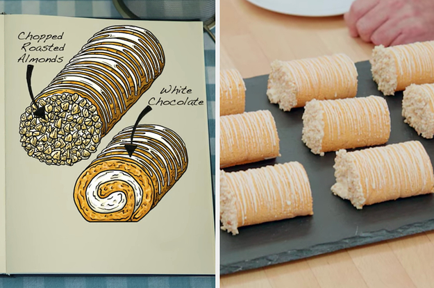 """I'm Completely Mesmerized By These 24 Side-By-Sides Of The """"Great British Bake Off"""" Bakes Vs. Their Drawings"""