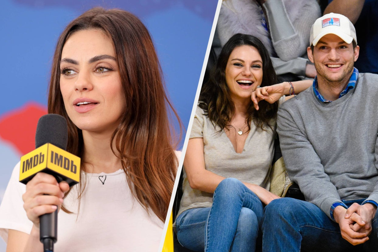 """Mila Kunis Said The Debate About How Often She And Ashton Kutcher Bathe Their Kids Is """"So Dumb"""" And Once Again Defended Their Stance"""