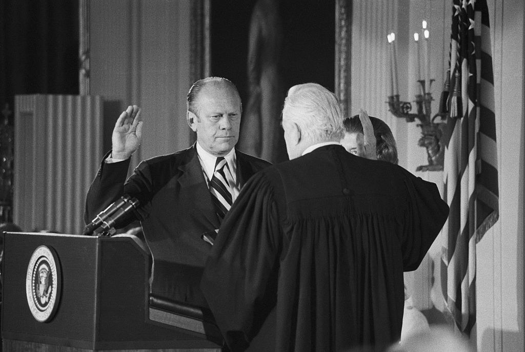 Ford is sworn in as president