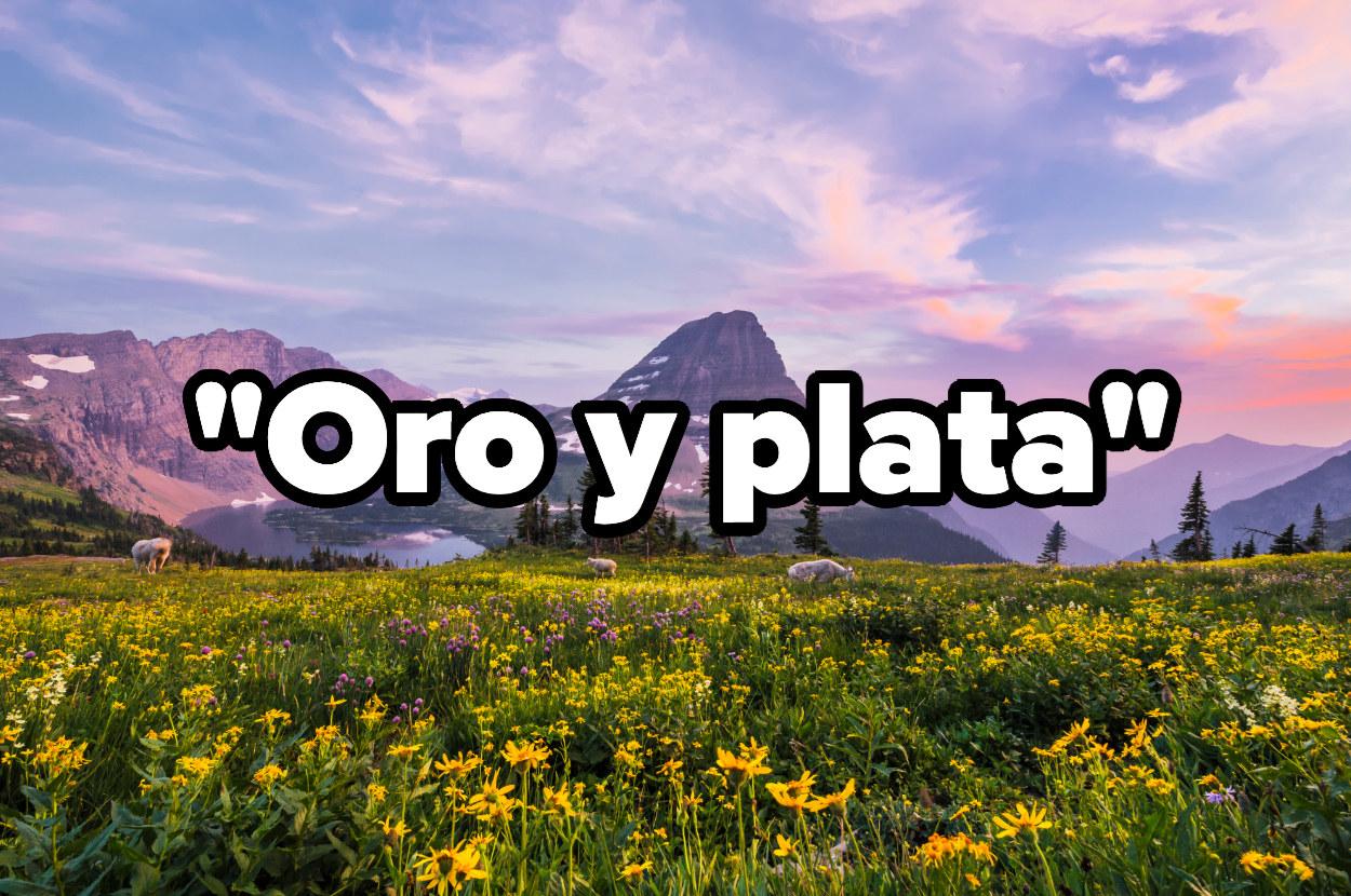 Glaciar National Park, the mottoOro y plata