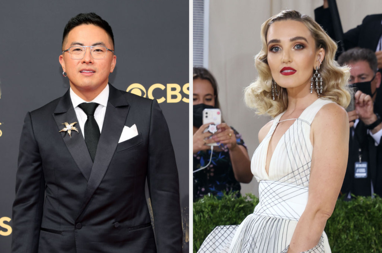 Bowen in a suit at the 2021 Emmys and Chloe at the 2021 Met Gala