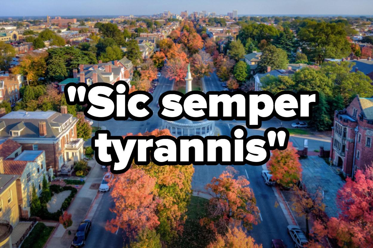 Fall foliage on Monument Avenue in Richmond Virginia