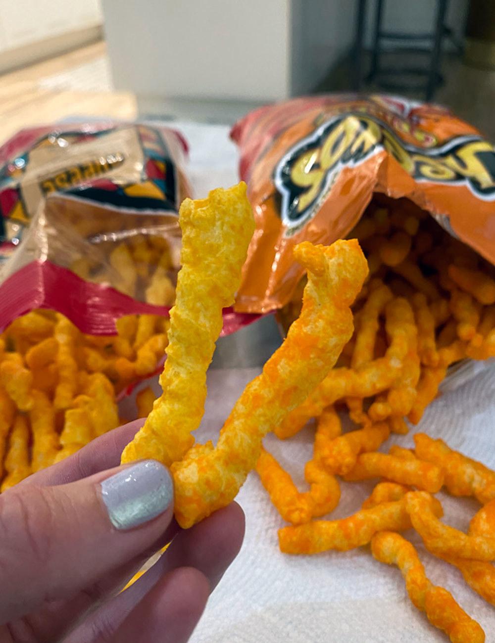 Trader Joe's Baked Cheese Crunchies and Cheetos