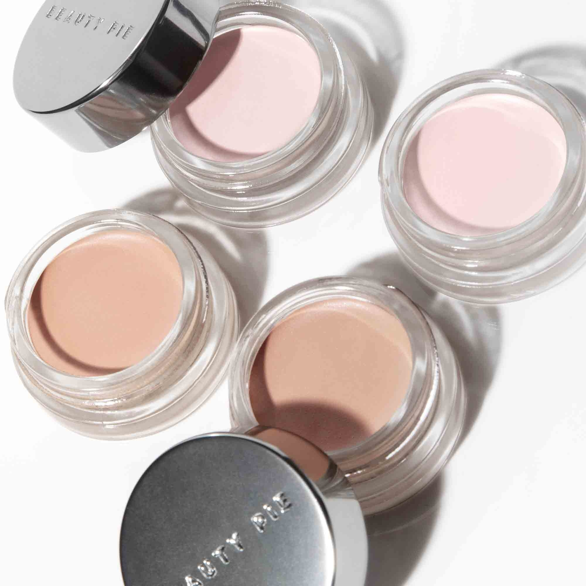 Four shades of Superluminous Undereye Genius with lids off